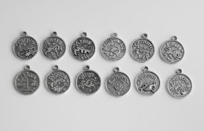 93 Zodiac Charms FOR SALE by MonsterBrandCrafts