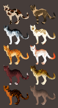 Feline Design adopts 7/10 OPEN by Mythic-Flame