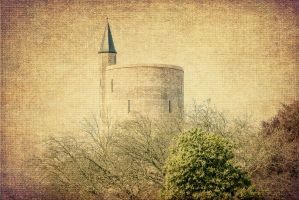 Water tower in Bruges on canvas by elvistudio
