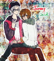 Jeremy and Chad - Regular Show- by KiraiRei