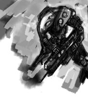 mecha speed painting by Gauntes