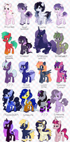 Acquired OC Master List by ponydreamdiary