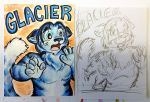 Glacier badge, drawn at Anthrocon by chrispco