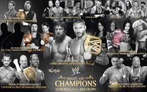 WWE Night of Champions 2013 Match Card by TheReller