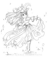 Lil Miss Snow - Coloring Page by Nijuuni
