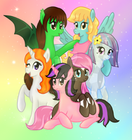 OC's- My pony group by MesuYoru