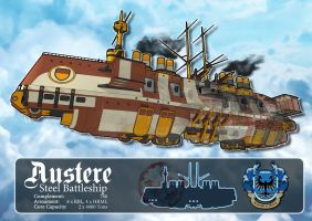 Austere Class Steel Battleship by Purgatory2010
