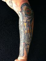 mechanical arm 3 by justinstattoos