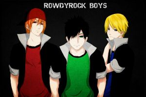 RowdyRock Boys - Darkbane95 (Request) by MiyajimaMizy