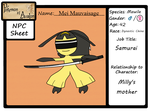 Mei Mauvaisage - NPC App by MawCarby