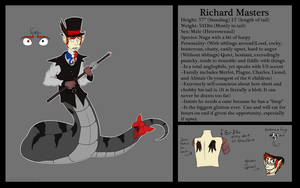 Richard Masters Refsheet by CannibalHarpy