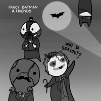Fancy Batman and Friends by arseniic