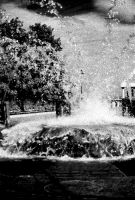 Infrared Fountain by ExposurePersonality