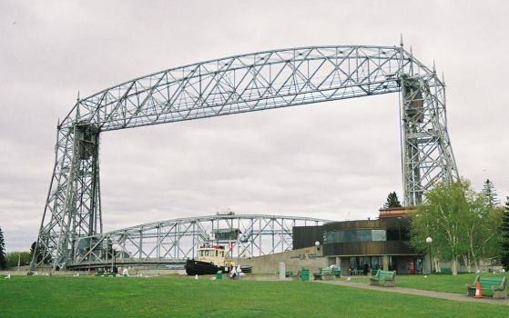 Duluth Aerial Lift Bridge Full by gothsk8terhateme