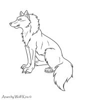 FREE WOLF LINE ART by AnarchyWolfKira