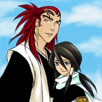 Renji and Rukia by Valkyrie-Girl