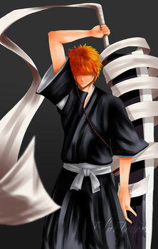 Bleach_Red-Haired Shinigami by ElyFlycorn