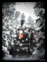 Winter Train by Joy-Kelberwitz