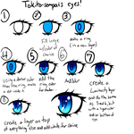 Paint Tool Sai anime eye tutorial by Tokito-sempai