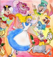 Alice in wonderland by zarielcharoitite