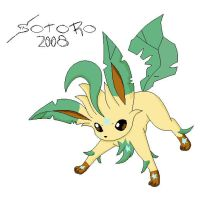 skye the leafeon by MinustheMinun