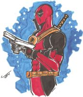 Deadpool Sketch by DSJax