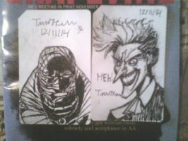 joker and hush sketchcards by ThomasDrawsStuff