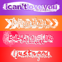 Textos PNG - Pack O5. by Believe577