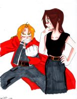 FMA-Edward and Emmy- when they first met by AnimeEmm