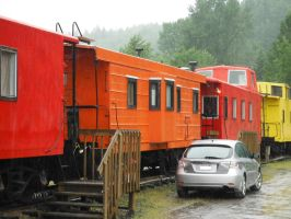 Caboose #2 at the Hobo Inn in Elbe, WA. by TomRedlion