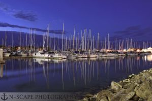 Marina Blues #2 by N-ScapePhotography