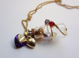 Bottle Beauty Necklace - My sweet sister by WaterGleam