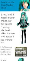 [MMD Tutorial] - How to use the Drop Shadow effect by Reon046