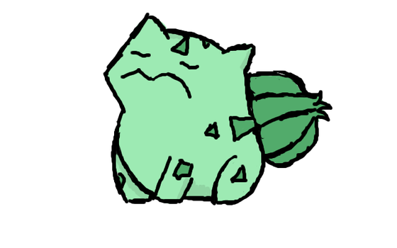 Fat Bulbasaur by Child-of-Minerva