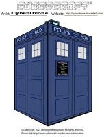 Cubeecraft - Classic TARDIS by CyberDrone