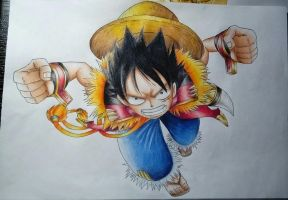 One Piece-Monkey D. Ruffy/Luffy by Pandaroszeogon