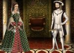King Henri II and Queen Catherine de Medici by MoonMaiden37
