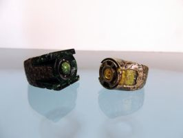 Real rings based off the Green Lantern movie by dubean33