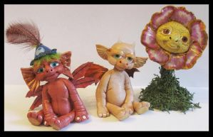 New Polymer Clay  Littles Creatures Kroulies by KabiDesigns