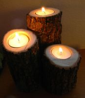 Oak Wood Tea Light Candle Holder Tutorial by colormecrazi