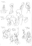 Dramione Sketches :D by thestoryweaver