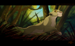 Through the jungle - Commission by Belka-1100