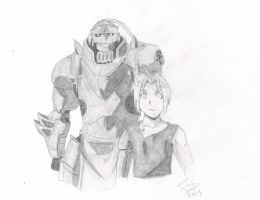Edward and Alphonse Elric sketch by Anchoring-Dreams