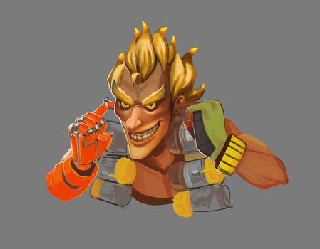 Overwatch - Junkrat by SuperKusoKao