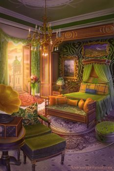 Bedroom in the Castle by Azot2017