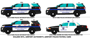 Egland Intl Airport Authority Police Patrol Cars by scfdunit1