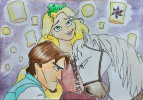 Tangled BDay Card by louisesaunders
