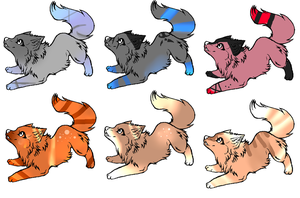 even more wolf adopts by Icey-adopts