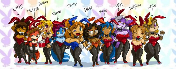 Toppy's Bunnies line up 8 by ShoNuff44