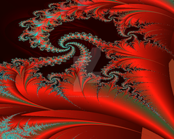 fractal red by KRSdeviations